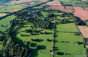Nidd Hall Yorkshire aerial photograph