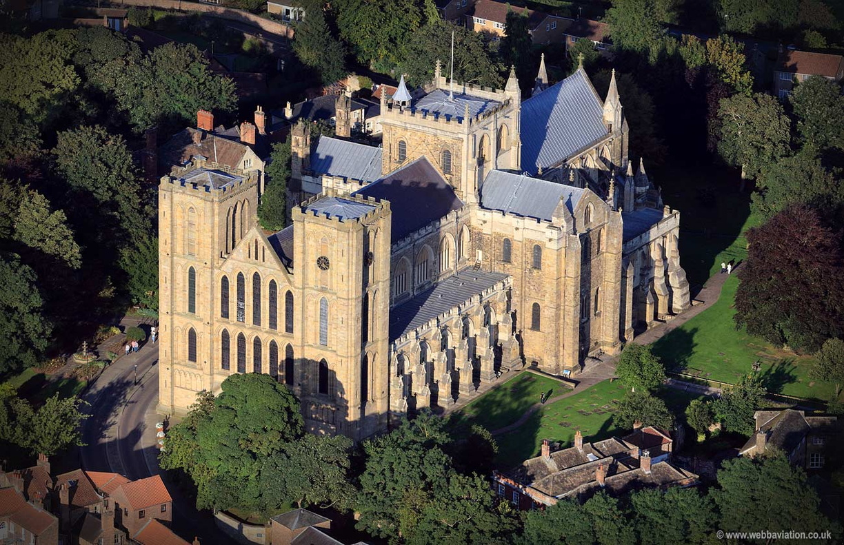 Ripon Cathedral Yorkshire aerial photograph | aerial