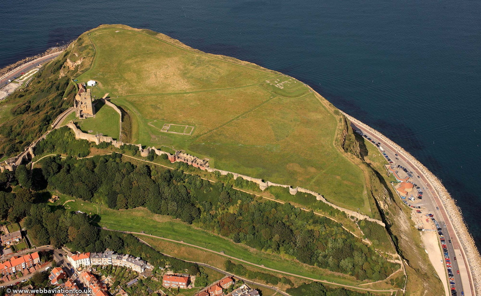 Scarborough Castle , North Yorkshire from the air