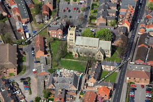 Selby Yorkshire England UK aerial photograph