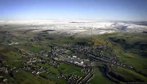 Settle North Yorkshire from the air