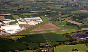Sherburn in Elmet airfield from the air
