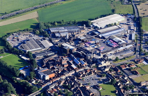 John Smith's Heineken Brewery in Tadcaster  aerial photograph