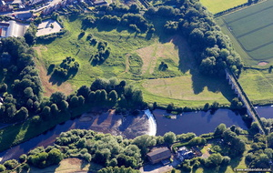 Tadcaster Castle   aerial photograph