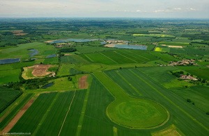 Thornborough Henges neloithic monument from the air