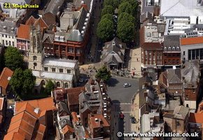 York  Yorkshire England UK aerial photograph