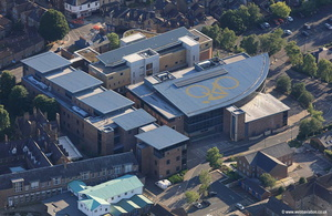 Fountains Learning Centre, York St John University York  aerial photograph