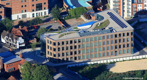 Hiscox office building in York  aerial photograph