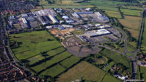 Monks Cross, Huntington  aerial photograph