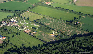 York Maze , the UK's larges Maize Maze.  aerial photograph