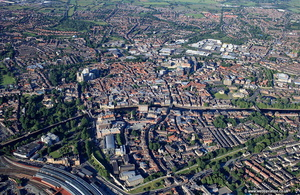 York England UK aerial photograph