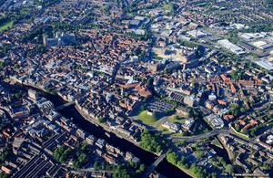 York city centre  aerial photograph
