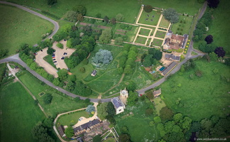 Canons Ashby  Northamptonshire  aerial photograph