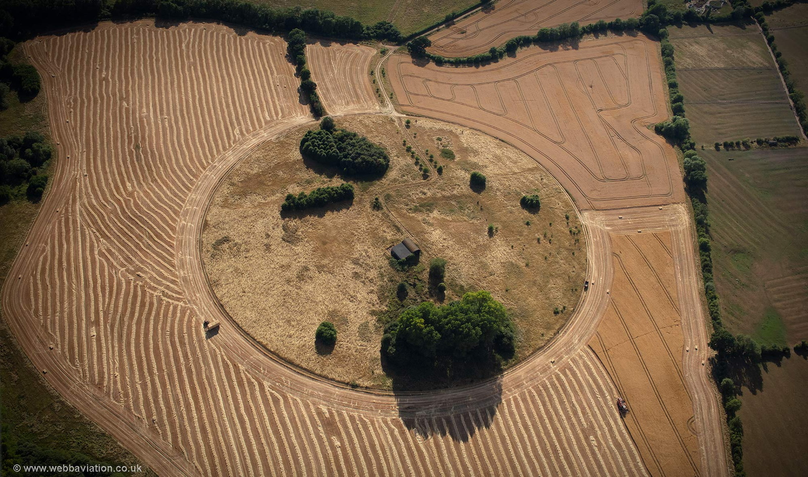 enigmatic field layout at Eydon  aerial photograph