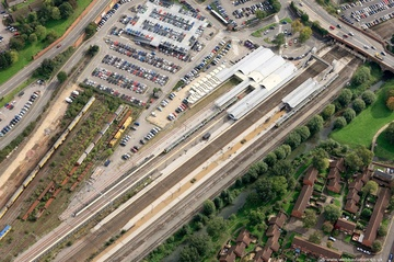 Northampton Station   Northampton Northamptonshire aerial photograph