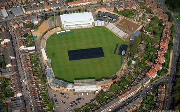 County Cricket Ground, Wantage Road  Abington  Northampton, England, UK , home to Northamptonshire County Cricket Club. aerial photograph