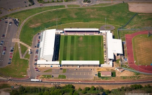 Sixfields Stadium Northampton, England UK  home of Northampton Town Football Club  aerial photograph