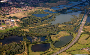 Nene Wetlands Nature Reserve, Rushden, NN10 from the air