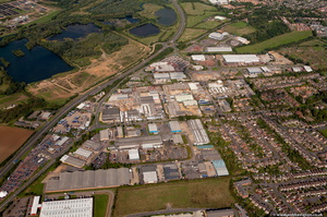 Sanders Lodge Industrial Estate, Rushden, NN10 Northamptonshire aerial photograph