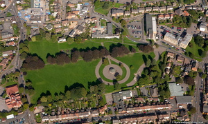 Bassett's Close Park  Wellingborough from the air