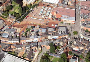 Wellingborough Northamptonshire aerial photograph