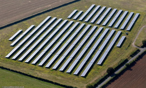 Solar PV Array on Knock Lane, Blisworth near Roade Northamptonshire from the air