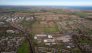 Cramlington Northumberland from the air