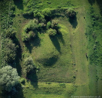 Aslockton Castle Nottinghamshire from the air