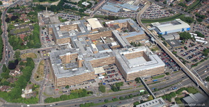 Queen's Medical Centrel Nottingham  from the air