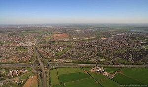 Sandiacre Nottingham NG10  from the air