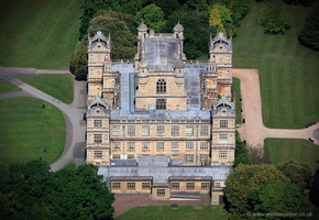Wollaton Hall Nottingham  from the air