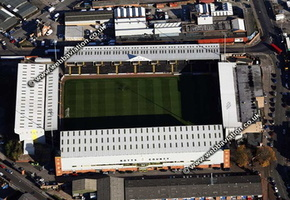 Meadow Lane Stadium   Nottingham, aerial photograph