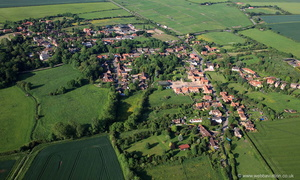 Orston Nottinghamshire from the air