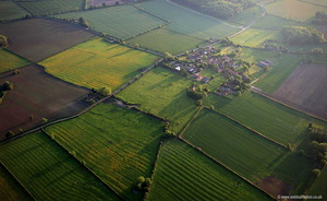 Owthorpe deserted medieval village in Nottinghamshire aerial photograph