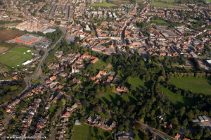 Retford  from the air