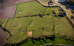 West Burton DMV Deserted medieval village aerial photo