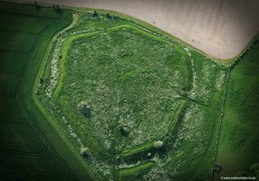 Alfred's Castle iron age hill fort , Oxfordshire aerial photograph