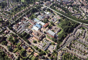 Banbury Oxfordshire  aerial photograph