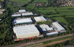 Bicester  aerial photograph