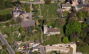 St Martin's Church, Bladon from the air