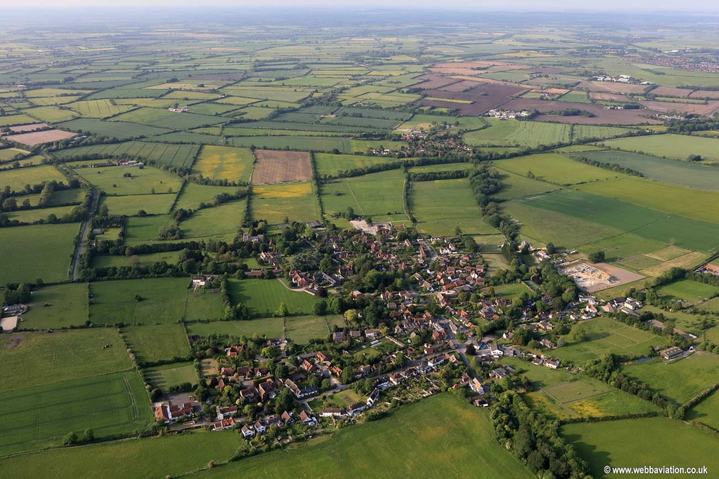 Childrey , Oxfordshire aerial photograph