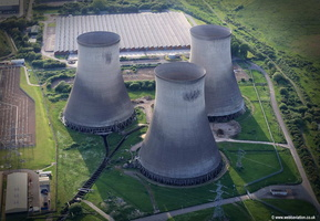 Didcot power station  cooling towers  aerial photograph