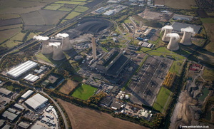 Didcot power station in operation   aerial photograph