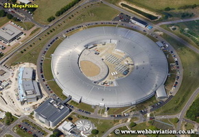 Diamond Light Source synchrotron science facility at  Harwell Science and Innovation Campus Oxfordshire aerial photograph