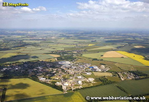 Harwell Science and Innovation Campus Oxfordshire aerial photograph