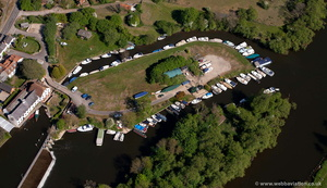 Hambleden Marina, Mill End, Henley-on-Thames from the air