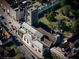 St Mary's Church, Henley-on-Thames from the air