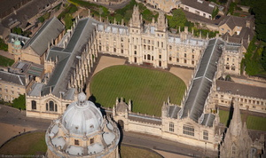 All Souls College, Oxford UK aerial photograph