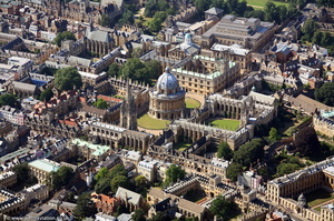 Bodleian Library, Oxford University aerial photograph