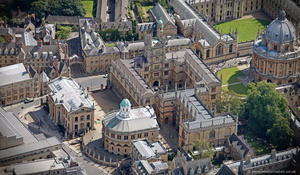 Bodleian Library Church Oxford  aerial photograph